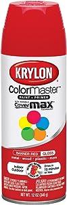 Krylon K05210807 ColorMaster Paint + Primer, Gloss, Banner Red, 12 oz.