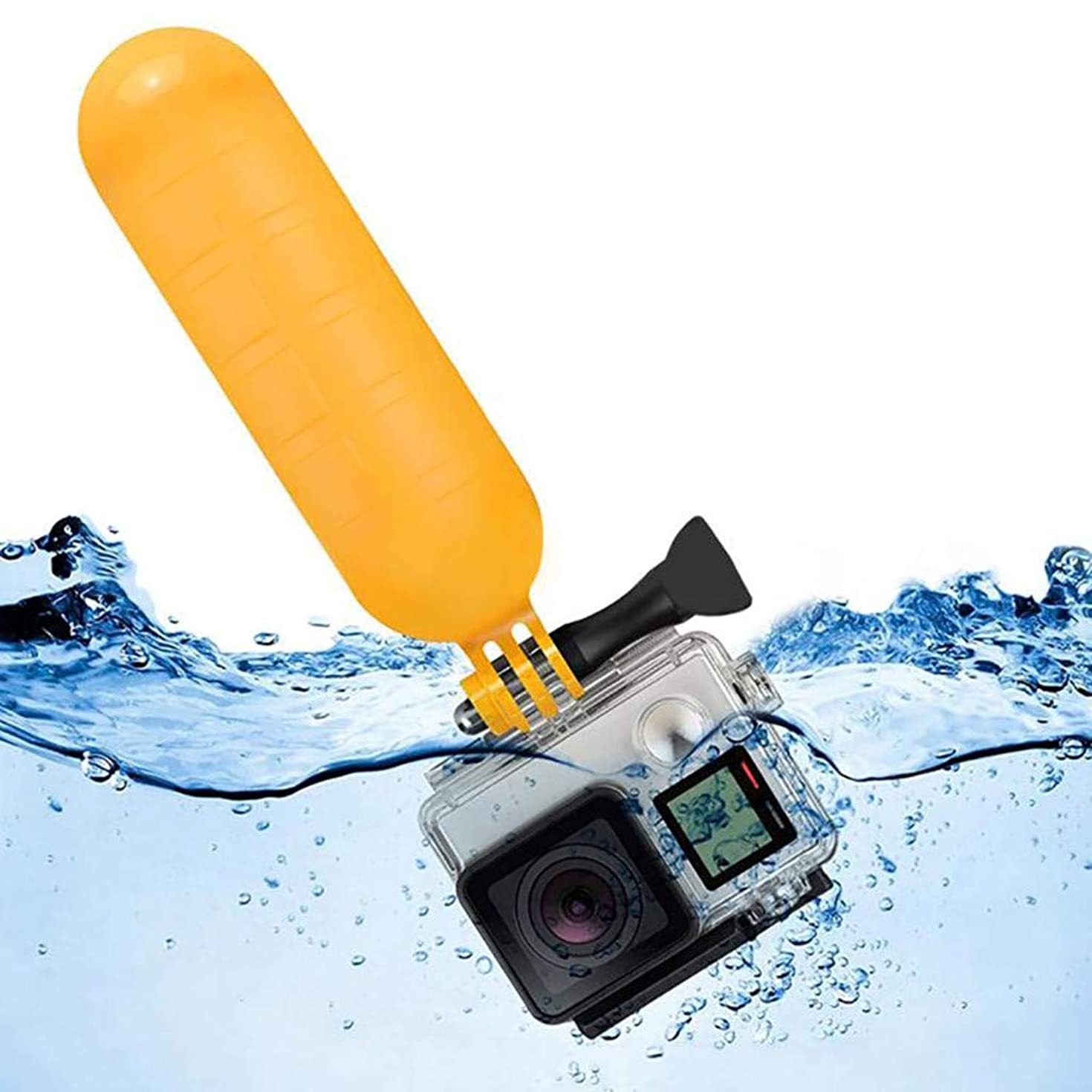 Sodoop Selfie Stick for DJI Osmo Action for GoPro7,Flat Floating Stick Diving Selfie Stick Grip Handle Sport Camera Accessories, Hero Yellow
