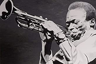 Miles Davis 18x12 Art Print Poster American Jazz Musician Trumpeter by Ed Capeau MADE IN THE USA