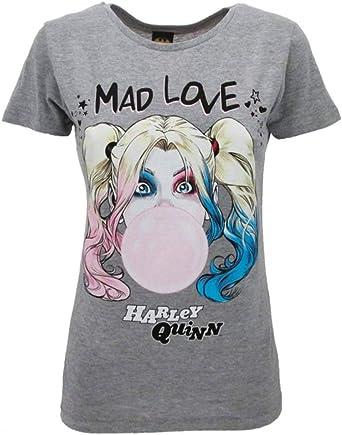 Sabor srl Camiseta Harley Quinn original de Birds of Prey y con la fantasmagórica renacimiento de Harley Quinn Film 2020 oficial camiseta Lady Mujer ...