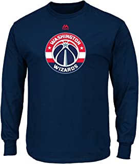 Majestic Washington Wizards NBA Supreme Logo Men's Long Sleeve T-Shirt - Navy
