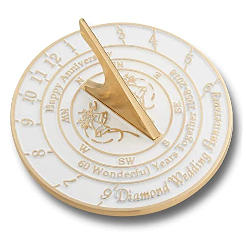 The Metal Foundry 60th Diamond Wedding Anniversary 2018 Sundial Gift Idea is A Great Present for