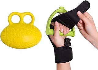 指リハビリグローブ+グリップボール、指痙縮リハビリ補助トレーニンググローブ高齢者拳脳卒中リハビリ補助器具