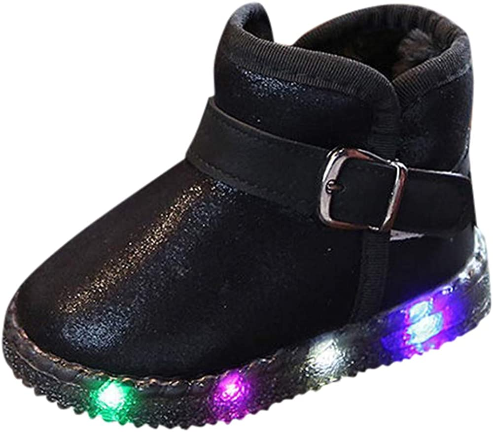 Baby Toddler Boys Girls Special price LED Light Snow Cheap mail order specialty store Shoes Boots 1-6 Years Up