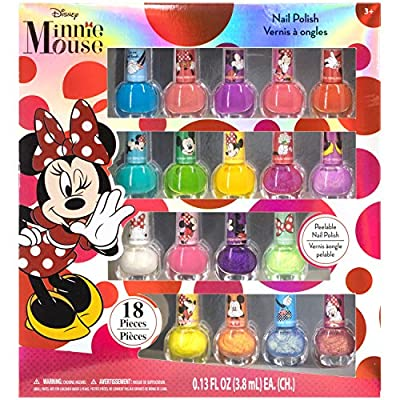 Townley Girl Minnie Mouse Non-Toxic Peel-Off Nail Polish Set