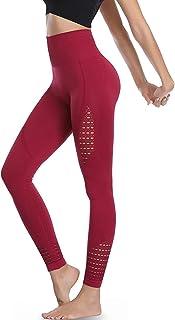 Amazon Brand - Eono Legging de Sport Femme Anti Cellulite Taille Haute Pantalon de Fitness Yoga sans Couture