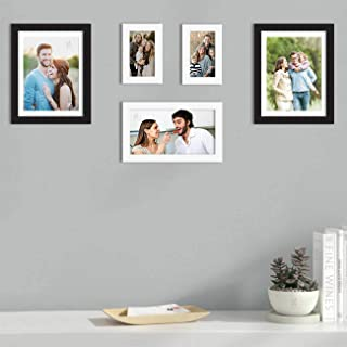 Art Street Set of 5 Black & White Wall Photo Frame, Picture Frame for Home Decor with Free Hanging Accessories (Size - 4x6...