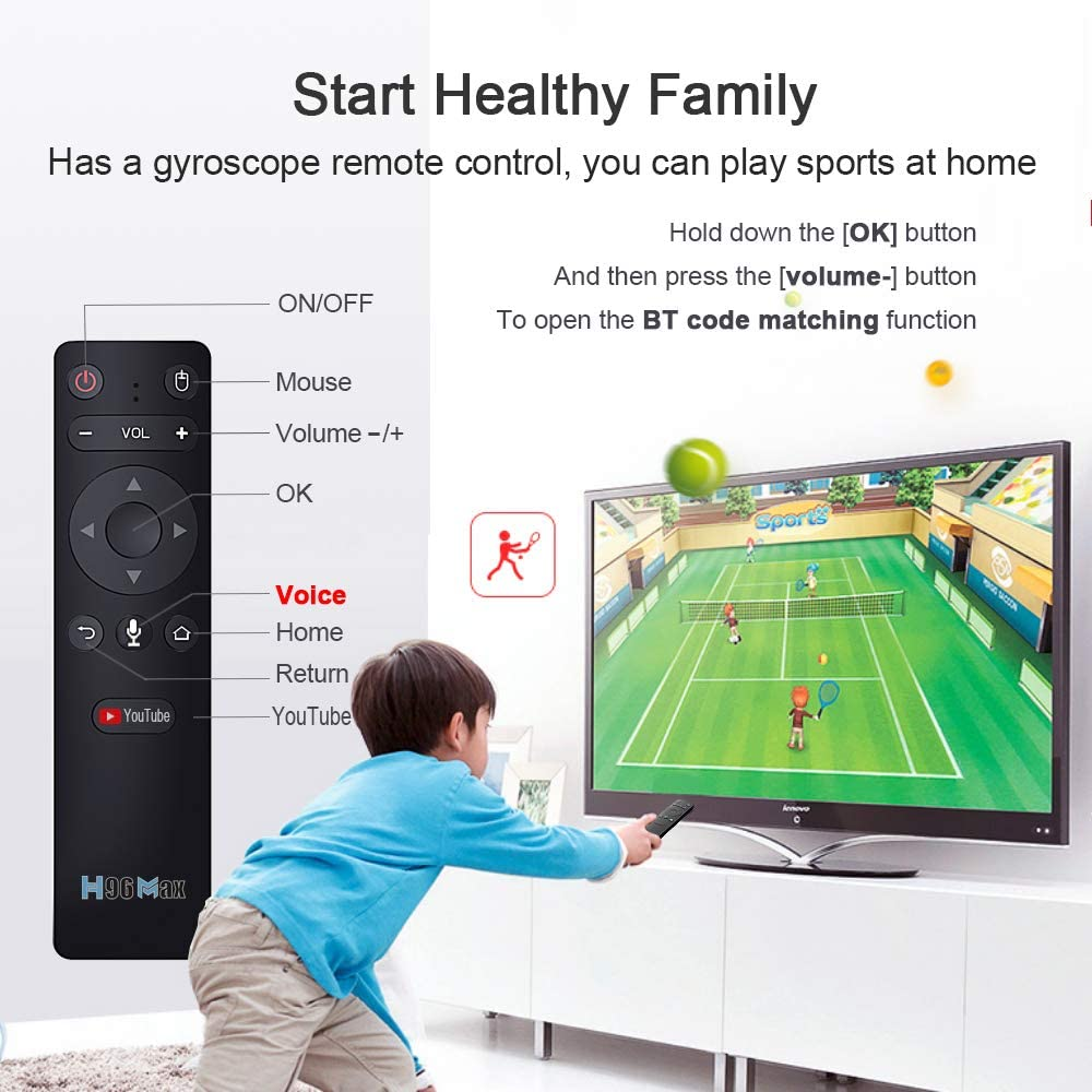 Doole H96 MAX RK3566 Smart TV Box Android 11.0 8K Media Player with BT Voice Control Set top Box (8G 128G)