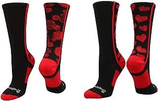MadSportsStuff Crazy Volleyball Logo Crew Socks (Multiple Colors)