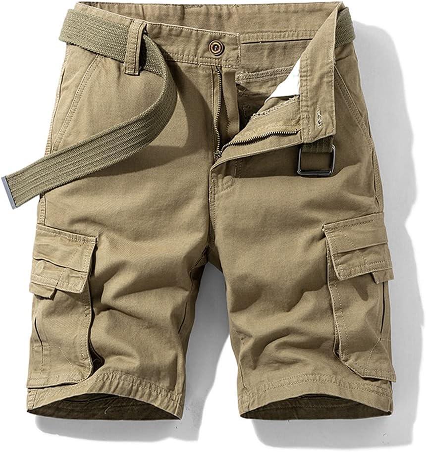 JJSPP Cargo Shorts Men Fashion Cotton Baggy Multi-Pocket Cargo Shorts Clothing Streetwear Men Solid (Color : B, Size : 30code)