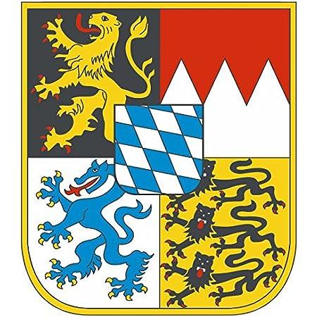 Etaia 4x3 5 Cm 10 X Mini Auto Aufkleber Freistaat Bayern Wappen Kleine Sticker Auto Motorrad Fahrrad Auto