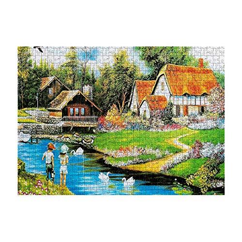 FAMOORE Puzzles 1000 Teile Erwachsenen und Kinder Puzzle Festival Geschenk virtuelles Puzzle Weihnachten (B)