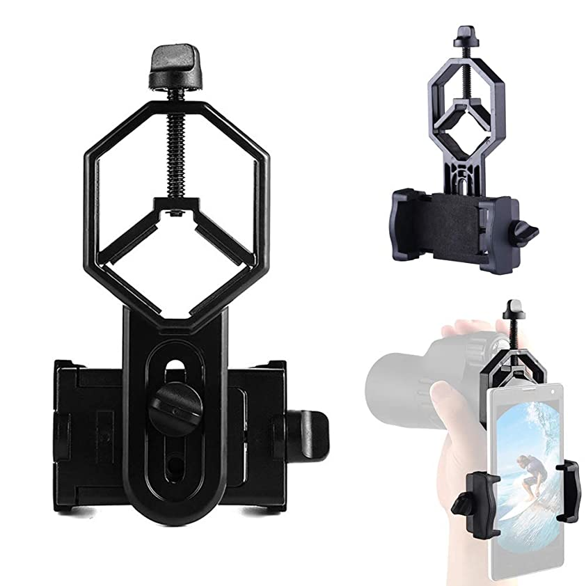 不完全な殺人本能SYOOY 携帯電話アダプター マウント 望遠鏡 顕微鏡 カメラホルダー スポッティングスコープ 望遠鏡 顕微鏡 単眼鏡 双眼鏡 iPhone Samsung HTC LGなどに対応