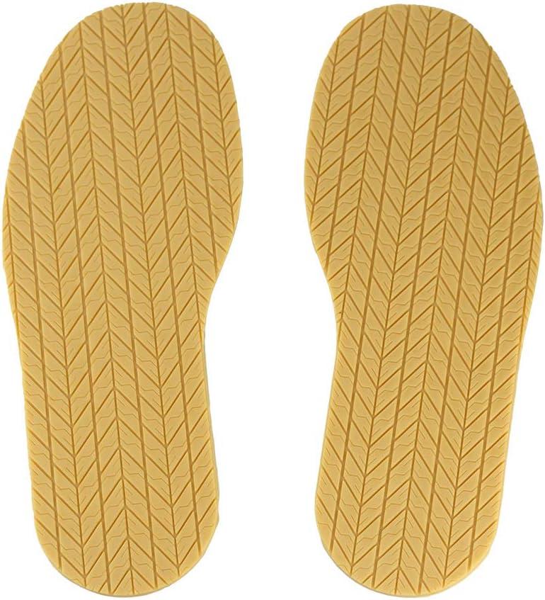 5 Pair Black Rubber Replacement Stick on Sole Heels Anti Slip Shoe Repair Supply