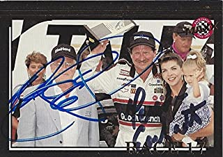 2X AUTOGRAPHED 1992 Dale Earnhardt Sr. & Teresa Earnhardt #3 Goodwrench Racing RACE 17 TALLADEGA WIN (Diehard 500) Victory Lane with Family Signed Collectible NASCAR Trading Card with COA