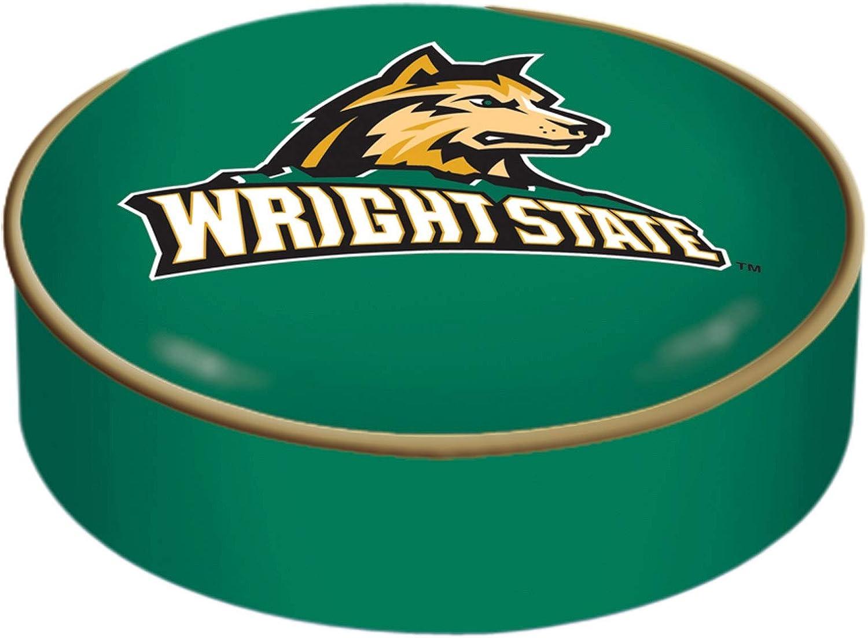 Wright State Raiders HBS Green Vinyl Slip Over Bar Stool Seat Cushion Cover