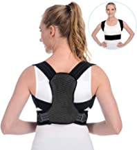 Anoopsyche Posture Corrector for Women and Men Upper Back Brace and Provide Clavicle Support for Thoracic Kyphosis and Shoulder Neck Pain Relief (Large 31.5-43.3 inch)