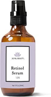 Joyal Beauty Organic Retinol Serum for Face Skin Eyes. Best for Anti-Aging Firming Fine Lines Anti Wrinkle Acne Pores. Advanced Premium Retinol Night Serum. 1.0%. 1 oz.