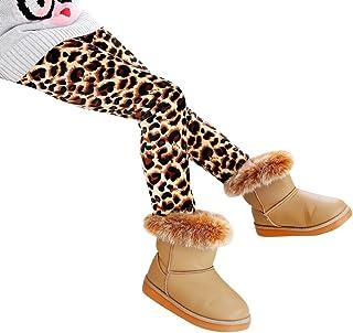 71e8ef50bac Niña Flor Impresión Leggings Elástico Pantalones Leggins Largos Gruesos  para Otoño Invierno