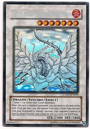 Yu-Gi-Oh  - schwarz Rosa Dragon (CSOC-EN039) - Crossroads of Chaos - Unlimited Edition - Ghost Rare by Yu-Gi-Oh