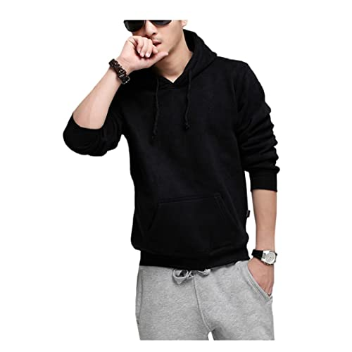 Mens Fashion Plus Size Fleece Hoodies Casual Sweatshirt Sportwear