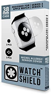 WatchShield 38mm Nickel Allergy Back Protector for Series 2-3 Apple Watches