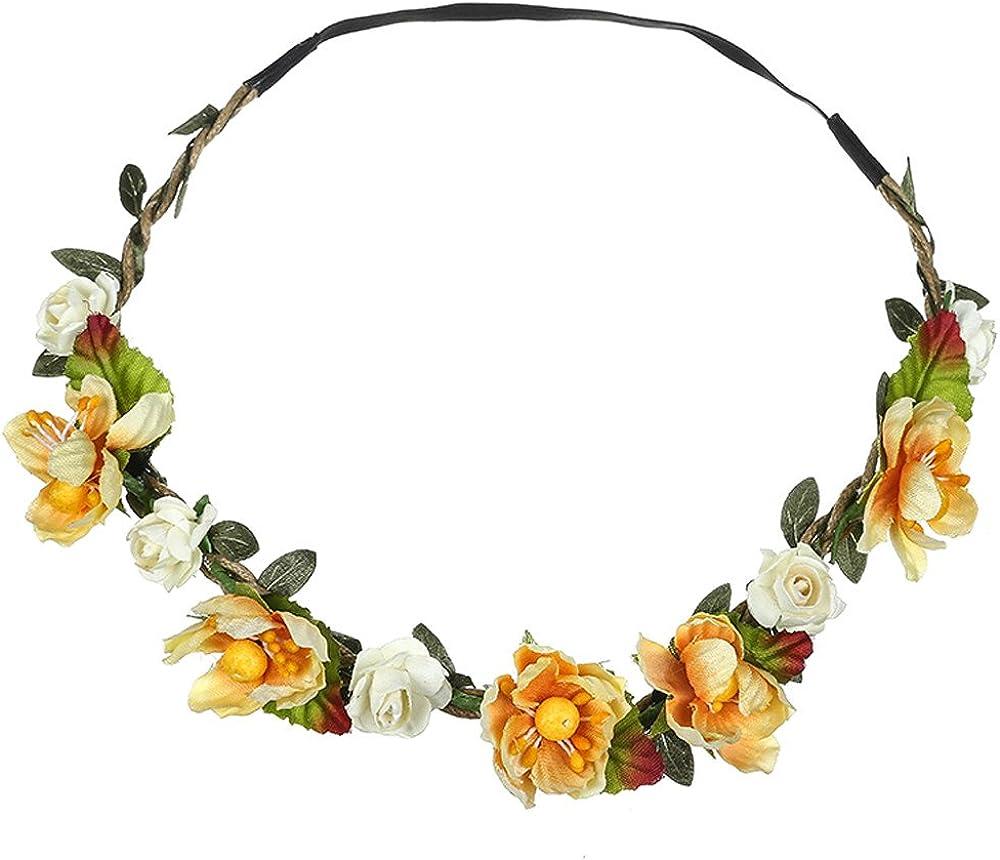 YOMXL Floral Bridal Flower Crown Fe Super sale Dedication Headpiece Wreath Hair