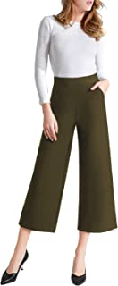 Women's Casual Loose Wide Leg Pants Pull On Dress Pant