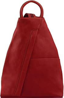 Tuscany Leather - Shanghai - Leather backpack - TL140963 (Red)