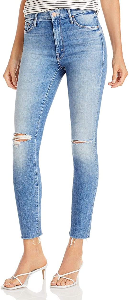 High Waisted Looker Ankle Fray - Skinny Jeans with Raw Hem in Thrilling Shots (Destroyed)