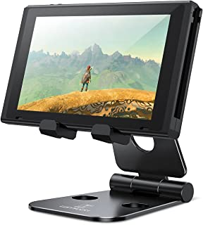 Multi-Angle Stand for Nintendo Switch, Lamicall Playstand : Cell Phone Tablet Video Game Holder Dock for iPhone 7 6 Plus 5...
