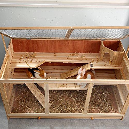 Nagerkäfig Villa Hamsterkäfig Mäusekäfig Kleintierkäfig Käfig Rattenkäfig Holz - 6