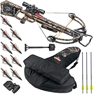 Wicked Ridge TenPoint Invader X4 360 FPS Upgraded Crossbow Bundle with Multi-Line Scope, Quiver, Arrows, Broadheads, and Soft Backpack Case. Made in The USA. (5 Items)