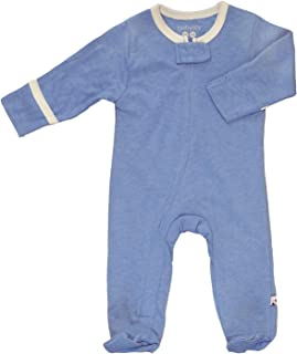 solid color footie pajamas