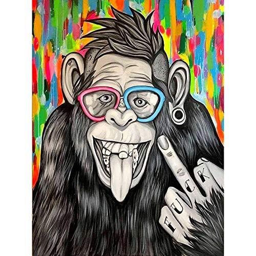 Bathinged 500 Piezas Rompecabezas Clásicos De Madera Aprendizaje para Adultos Juguetes Educativos Rompecabezas para Niños Orangután Animal Puzzles 52X38Cm