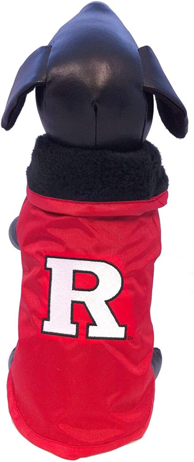 All Star Dogs Rutgers Scarlet Knights All Weather Resistant Predective Dog Outerwear, XXLarge