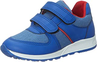 Skippy Contrast Sole Velcro Closure Sneakers for Boys