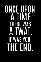 Once Upon a Time there was a Twat. It Was you. The End: Funny Rude Offensive Gift Present (better than a card!) Homework B...