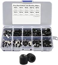 WINGONEER 440pcs M3 M4 M5 Knopf Kopf Sechskantschraube Schrauben Schrauben Muttern Sortiment Kit mit Box 10,9 Grad Legierung Stahl Black Oxide Finish