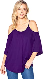 Solid Off-The-Shoulder High Low Tunic Top (S-4XL)