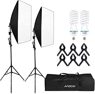 Andoer Andoer-2 Photography Studio Cube Umbrella Softbox Light Lighting Tent Kit Photo Video Equipment 2 * 135W Bulb 2 * T...