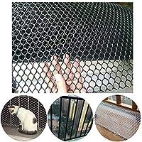 安全ネット 多目的な用途のネット 階段ネット 防護ネット 子供 転落防止網 キッズセーフティネットは、屋内&屋外の猫セーフティネットは、安全ネット子供の安全を守ります。ペットの安全性;バルコニー、階段、フェンスのために使用される階段プロテクター、 - ブラック 怪我防止 危険防止 簡単設置 丈夫 取り付けバンド付属 (Color : Black, Size : 1.5x3m)