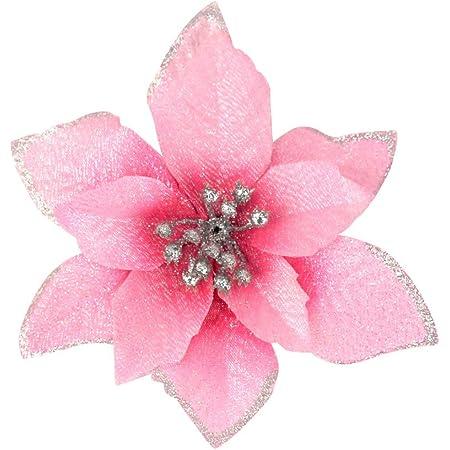 Details about  /12Pcs Glitter Artificial Christmas Tree Flower Festival Party Ornament Decors