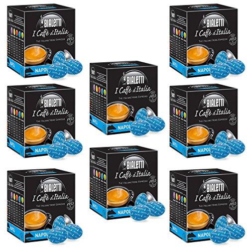 128 Kaffeekapseln von Bialetti, Mokka, für Mokona, Tasse, Diva Cuore-Napoli.