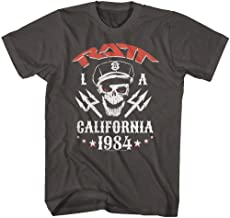 RATT American Glam Metal Band Roll'N'RATT LA California 1984 Adult T-Shirt Tee