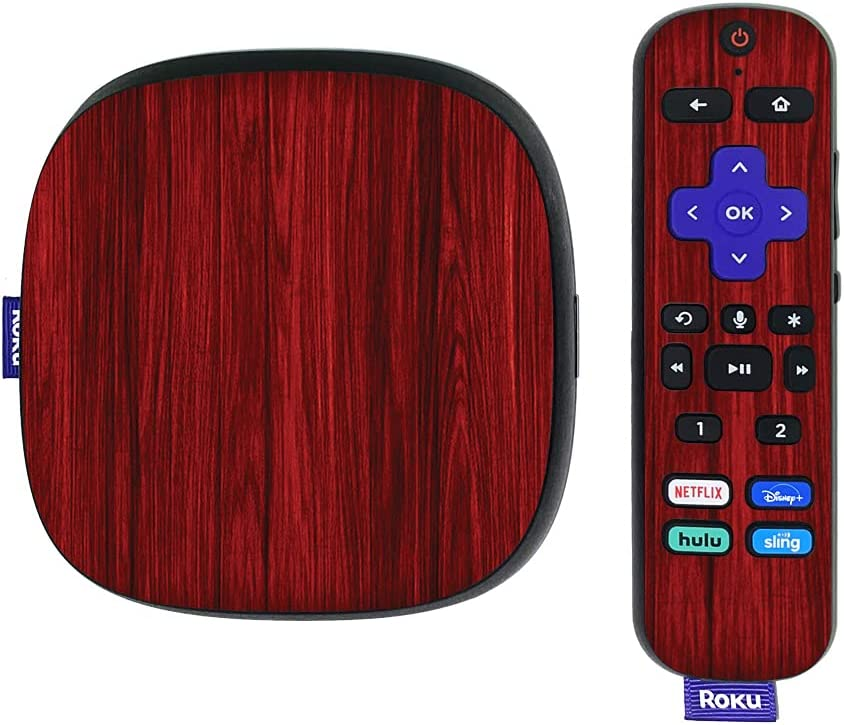 MightySkins Skin Compatible with Roku Ultra HDR 4K Streaming Media Player (2020) - Cherry Grain | Protective, Durable, and Unique Vinyl Decal wrap Cover | Easy to Apply | Made in The USA