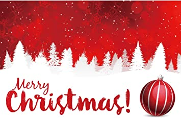 Merry Christmas Banner Christmas Photo Prop and Decoration White and Red