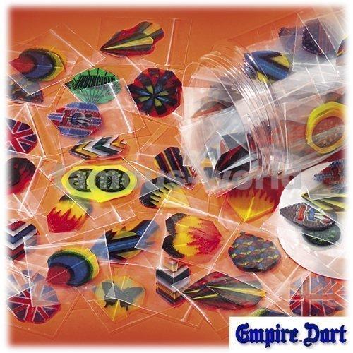 30 Dartflights (10 Satz), verschiedene Farben u. Formen (5