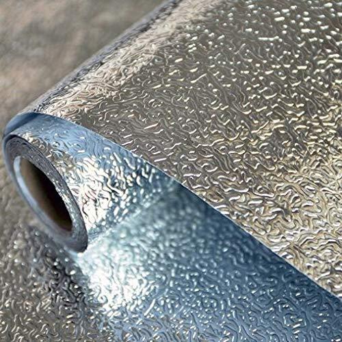 Jidan Multifunktionale Küchenherd Aufkantung Oilproofed Wandaufkleber Aluminium Foil Wasserdicht Herausnehmbare Self Adhesive Vinyl Tapete (Color : Orange Peel Pattern, Dimensions : 40CM X 1M)