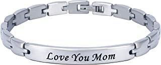 Smarter LifeStyle Elegant Mom & Mother Themed Surgical Grade Steel Women`s Bracelet Gift, Many Styles to Choose from